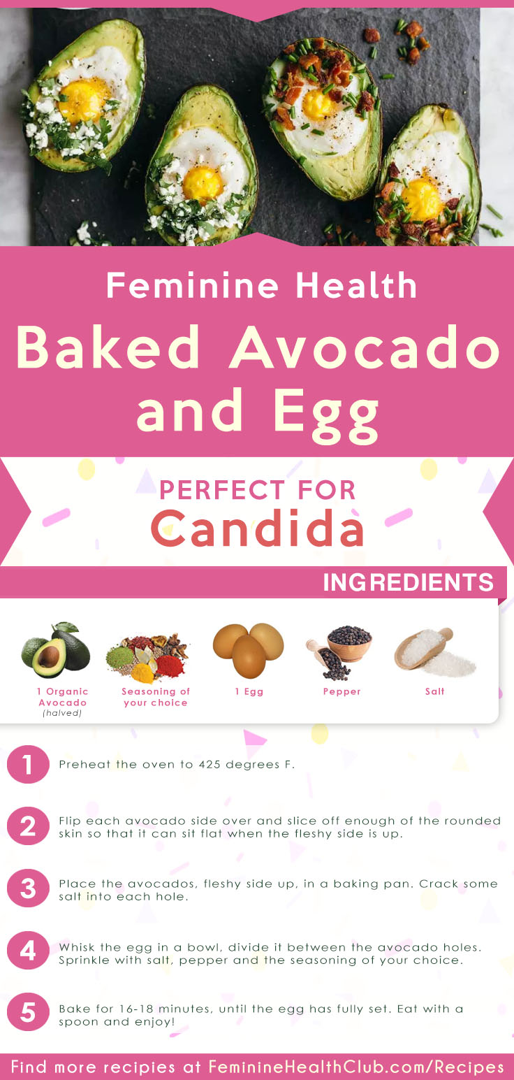 Baked Avocado And Egg Recipe For Candida